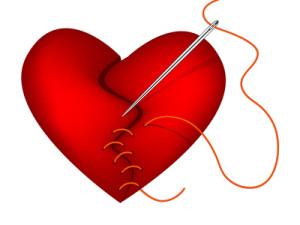 Healing clipart broken heart How heart mended of thread
