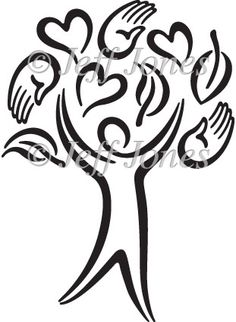 Healing clipart gentle hand Stock Tree Clipart Black Icon