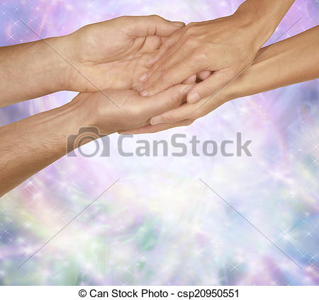 Healing clipart gentle hand Female gentle Male female energy