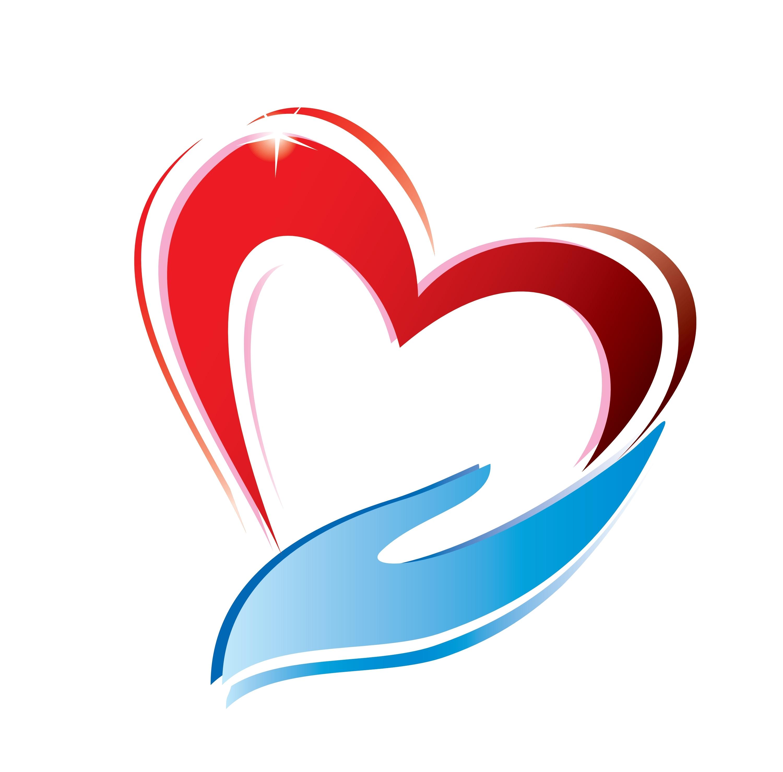 Healing clipart helping hand Logo Heart 3d heart logo