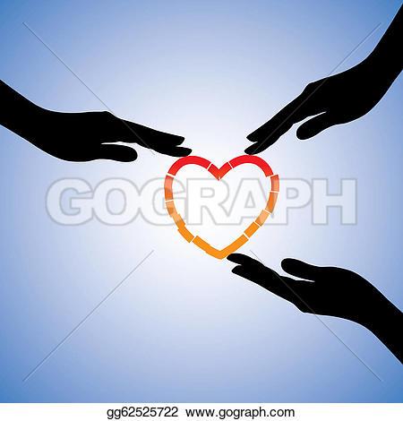 Healing clipart human hand Heart broken of illustration of