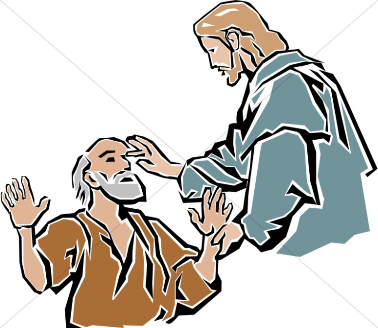 Healing clipart jesus Testament Blind Blind the the