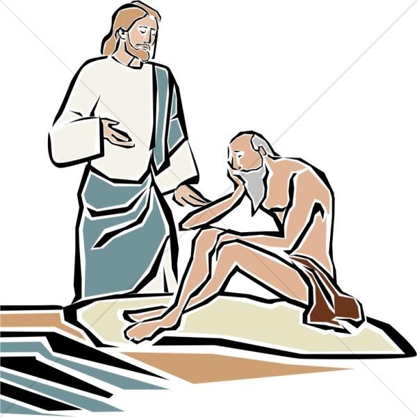 Healing clipart jesus Healing Blind Pool Bethsaida the
