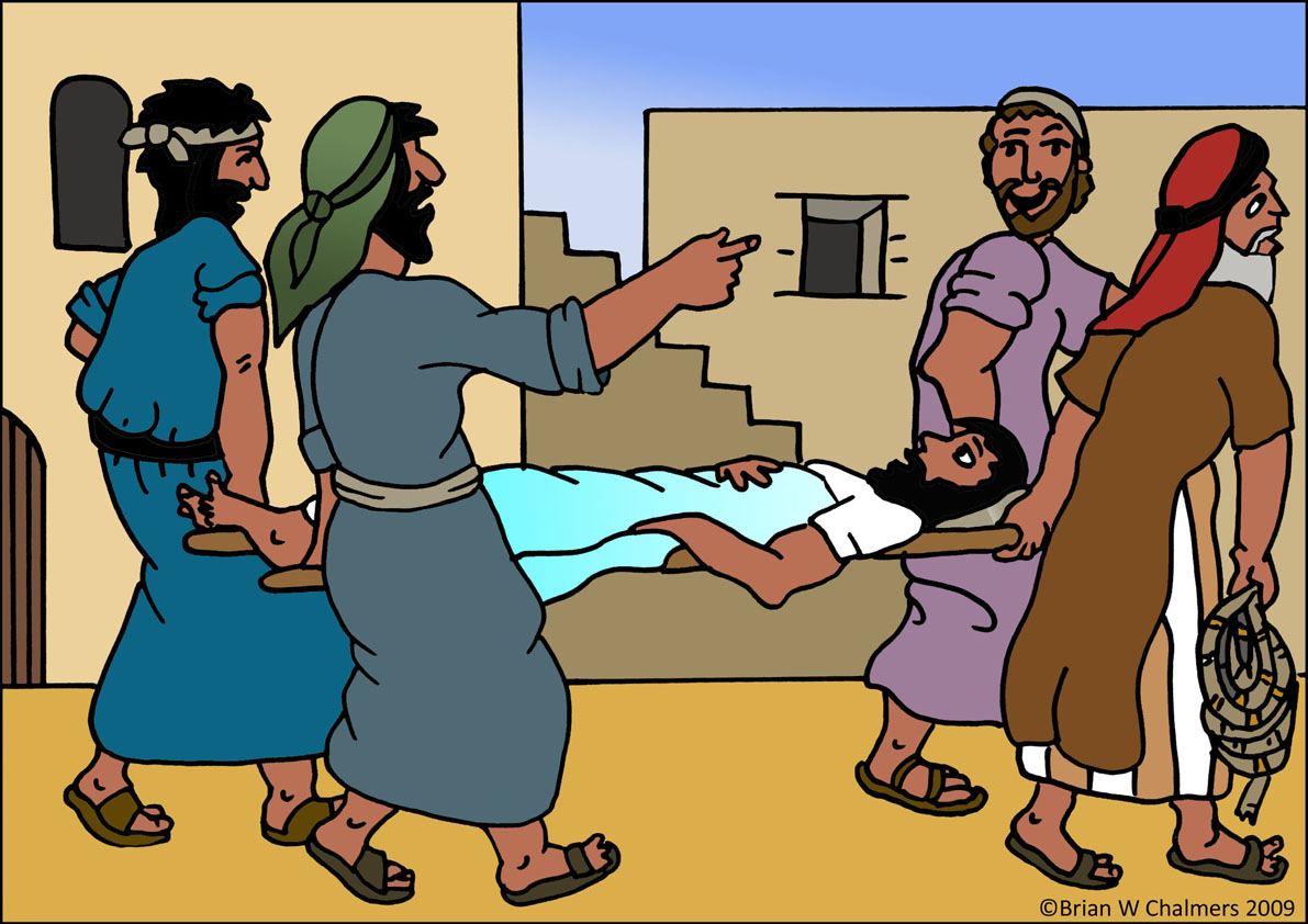 Healing clipart lame man Paralytic the Heals Paralyzed The