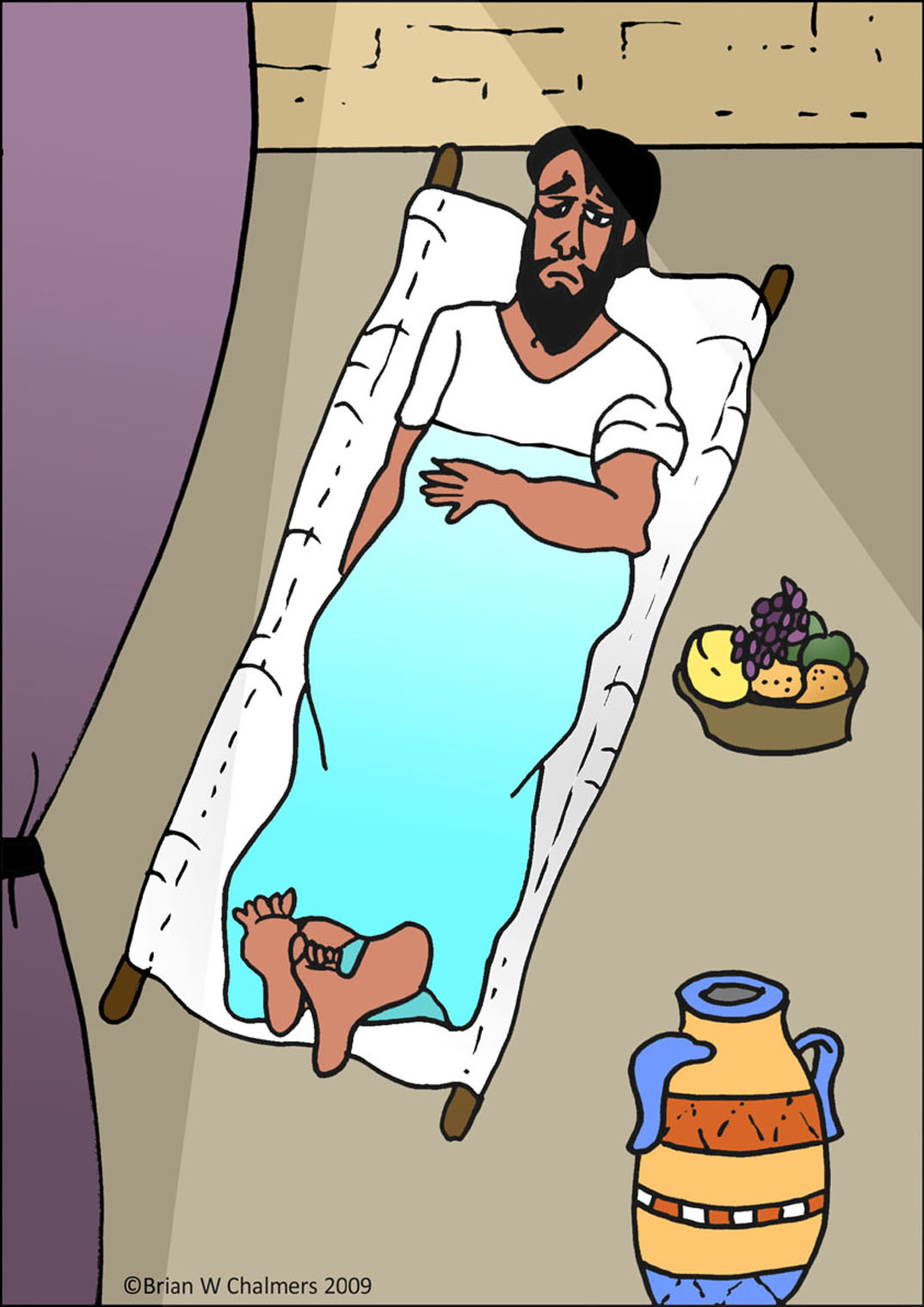 Healing clipart lame man Man in The Capernaum A