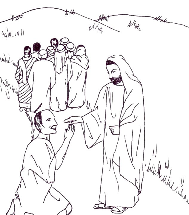 Healing clipart leper Jesus org: Pages childrenschapel Coloring