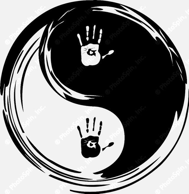 Healing clipart right hand Yin yang healing symbols symbol