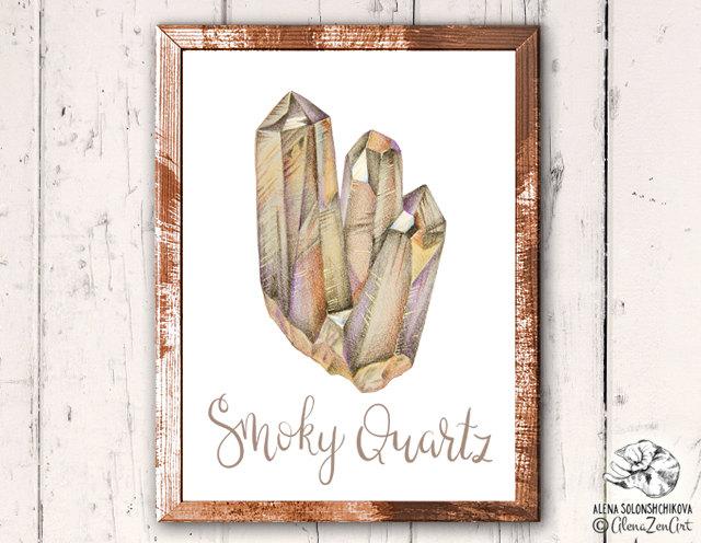 Healing clipart root Crystal print Smoky Printable Root