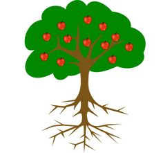 Healing clipart rooted tree Simple steps: drawing Roots in
