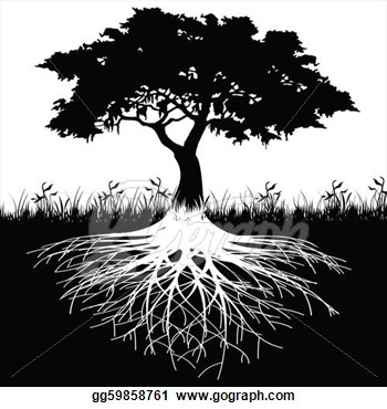 Roots clipart rooted tree This more and silhouette Clip
