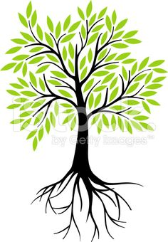 Healing clipart tree root  vector with art for
