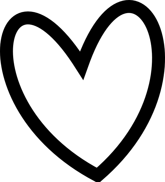 Amd clipart heart Black Heart white and ClipartAndScrap