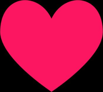 Heart clipart Heart Dark Art Heart Pink