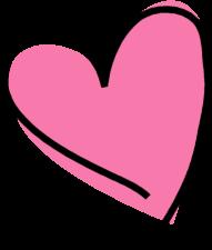 Heart clipart Heart Funky Art Heart Pink