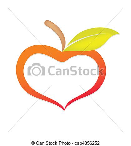 Hearts clipart apple Csp4356252 to Apple Art csp4356252