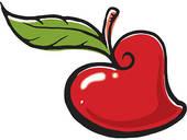 Hearts clipart apple Apple heart  Apple Free