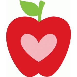 Hearts clipart apple Store Silhouette heart Design #92007: