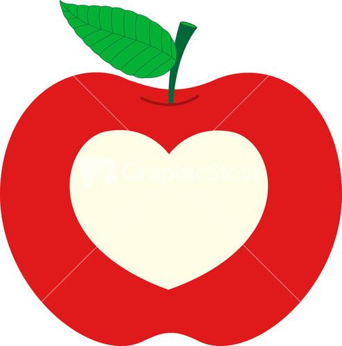 Hearts clipart apple Vector Apple Heart Image Apple