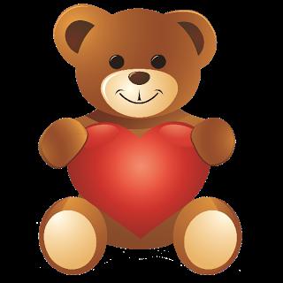 Teddy clipart cute heart #1