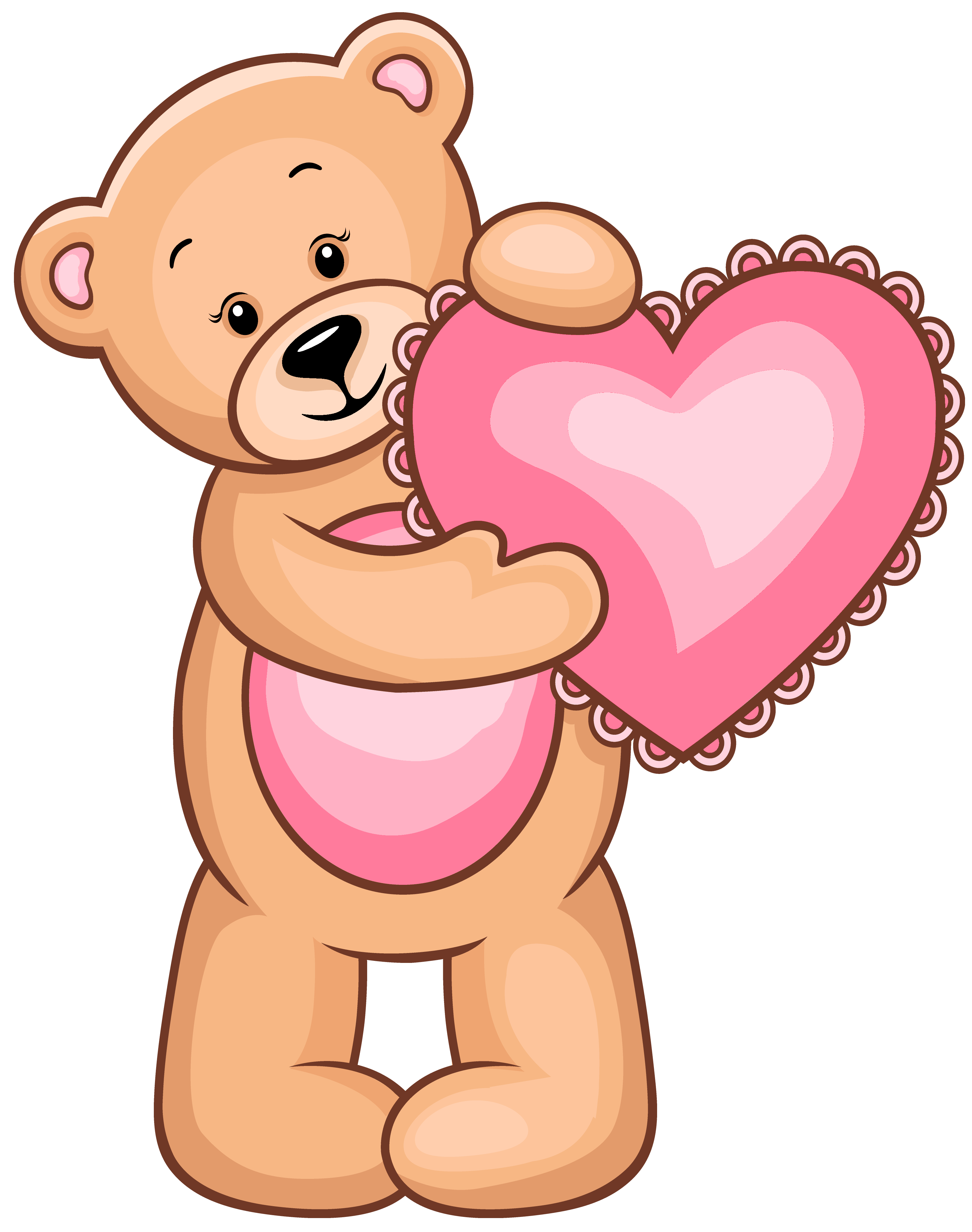 Bear clipart transparent Teddy Valentine Clipart clipart with