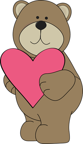 Hearts clipart bear Bear Image Bear Valentine Brown