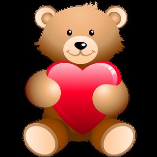 Teddy clipart cute heart #3