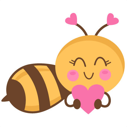 Bees clipart orange  cricut free files cute