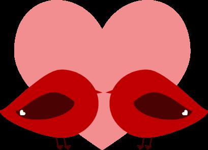 Kisses clipart valentine's day Love Birds Clip Red Art