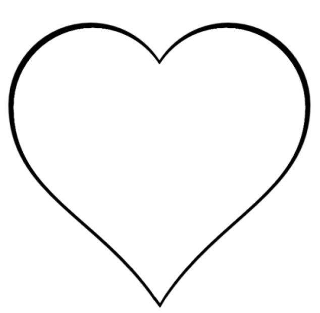 Amd clipart heart Clipart Outline And Clipart Black