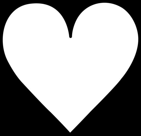 White clipart love heart Outline Black White Clipart Free