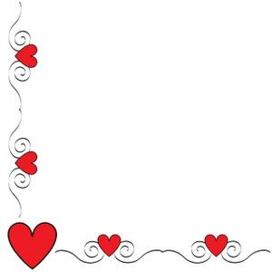 Hearts clipart border Border Heart Clipart #1 border