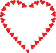 Hearts clipart border Shaped Heart Clipart 75 Borders