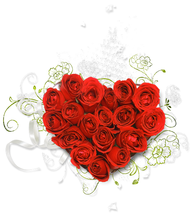 Bouquet clipart dozen rose Size Heart full Clipart Red