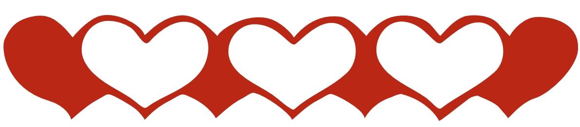 Hearts clipart border Art Heart Free  Free