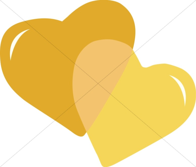 Hearts clipart lot Page Heart Christian Gold 2
