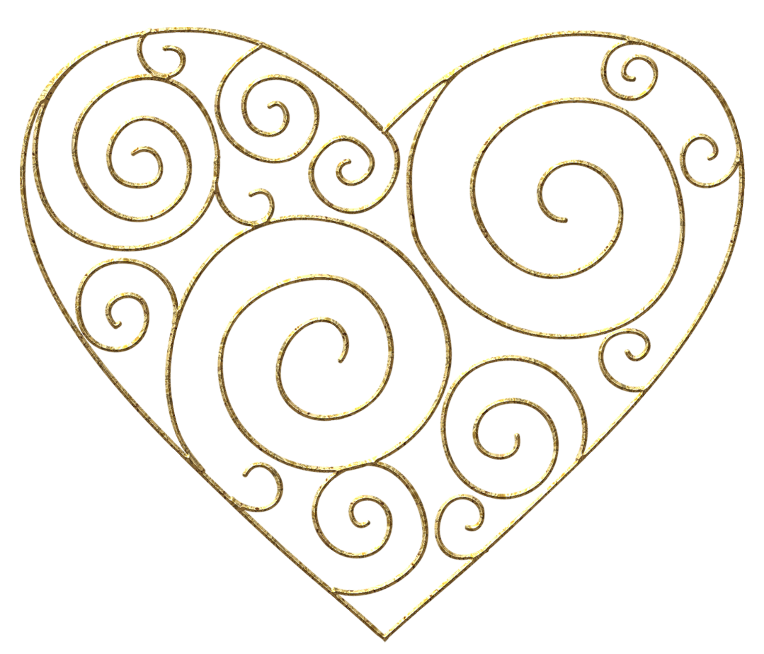 Hearts clipart line art 1079x923 Heart Resolution Clipart Gold