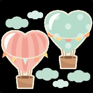 Heart clipart hot air balloon Heart Heart scrapbook Hot cricut