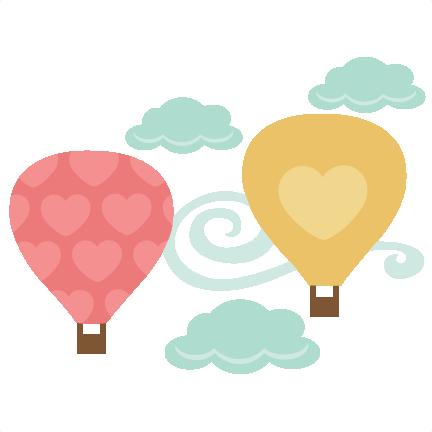 Heart clipart hot air balloon SVG HeartsHot scrapbooks cutting svgs