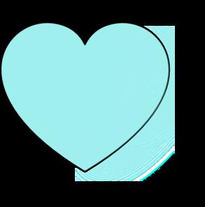 Blue clipart love heart Panda light%20blue%20heart%20clipart Light Blue Free