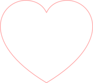Hearts clipart heart outline Pink heart Outline Heart art