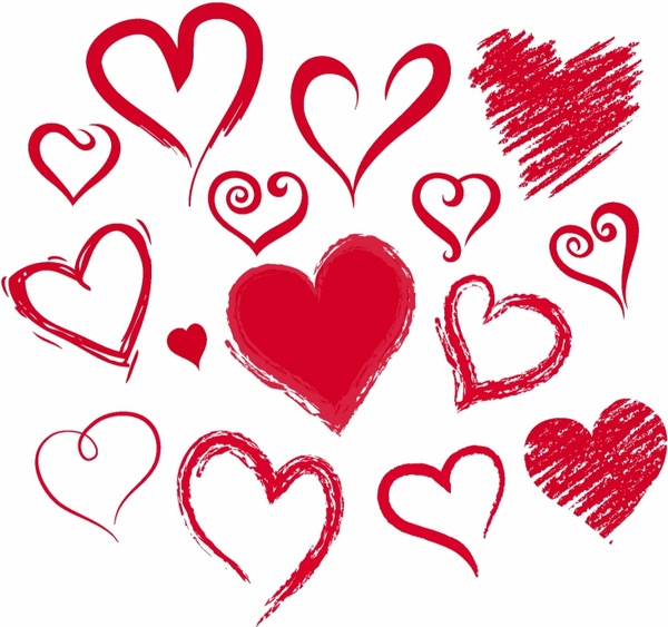 Pencil clipart heart  Hearts download pencil free
