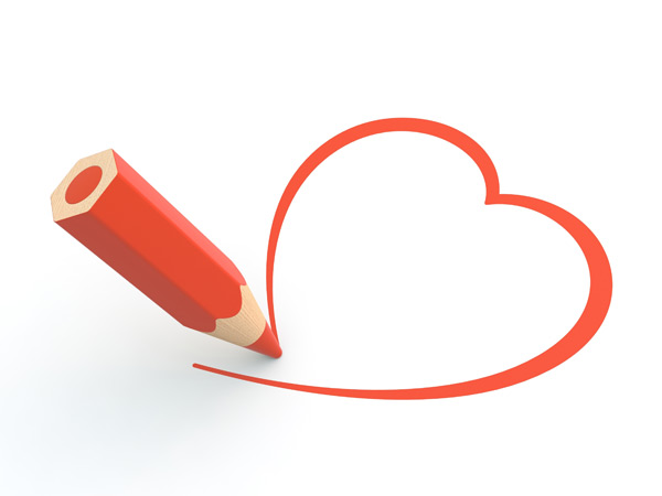 Pencil clipart heart Heart Colored Colored a shape