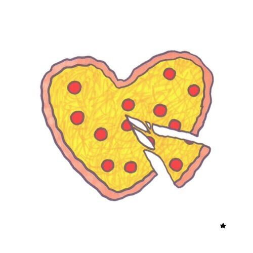 Pizza clipart yellow Best images Pizza #tumblr #overlays