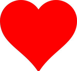Card clipart red heart #1