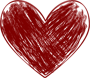 Hearts clipart scribbled Red Heart Scribbled Art Heart