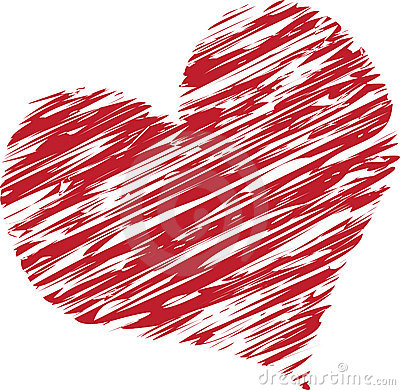 Hearts clipart scribbled Download Clipart Scribble Heart Clipart