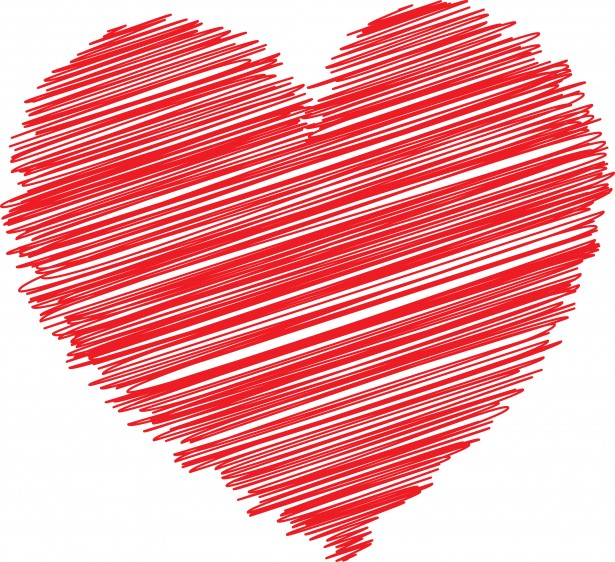 Hearts clipart scribbled Pictures  Photo Red Stock