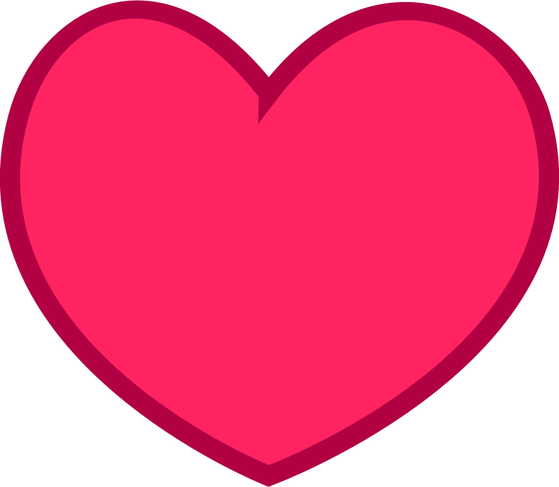 Hearts clipart volleyball  Art Clip Heart Simple