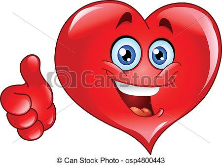 Hearts clipart smiley face  up csp4800443 thumb heart