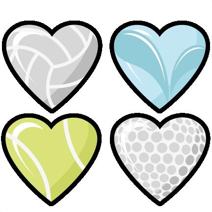 Sport clipart heart Cute file Set cut cricut